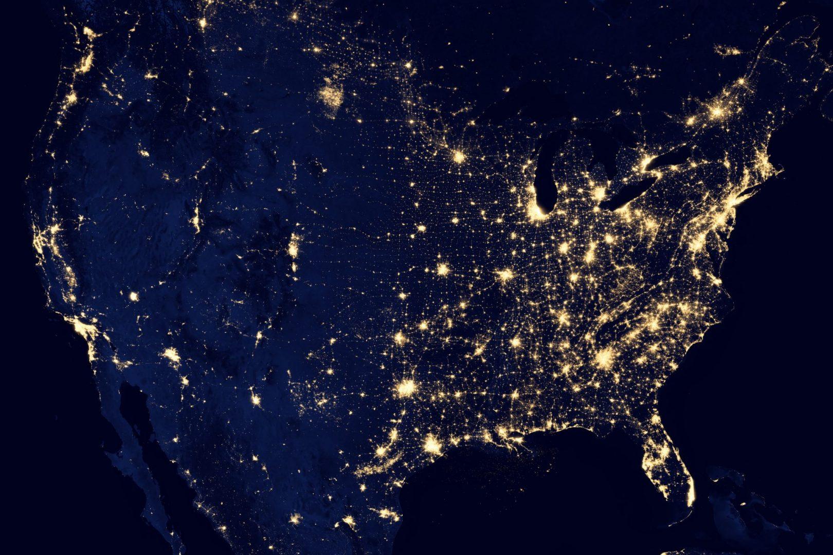 hell erleuchtete Netzwerke des Kontinents